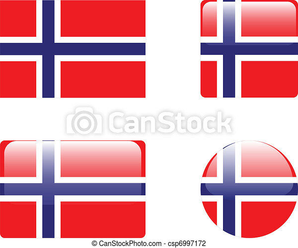 Norway flag & buttons - csp6997172