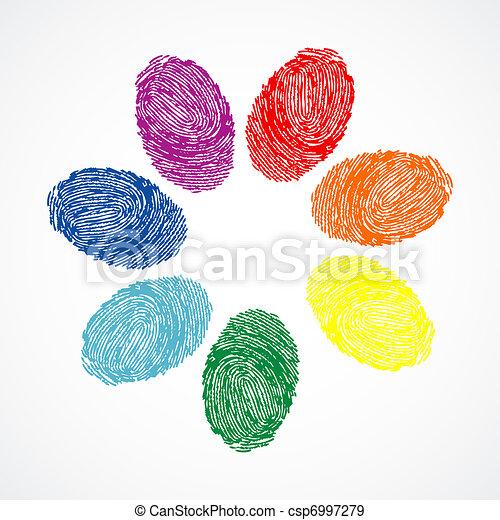vector finger prints  - csp6997279