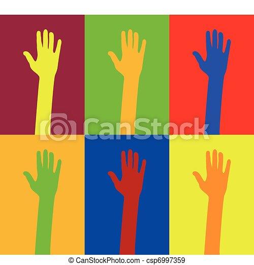 diversity of hands - csp6997359