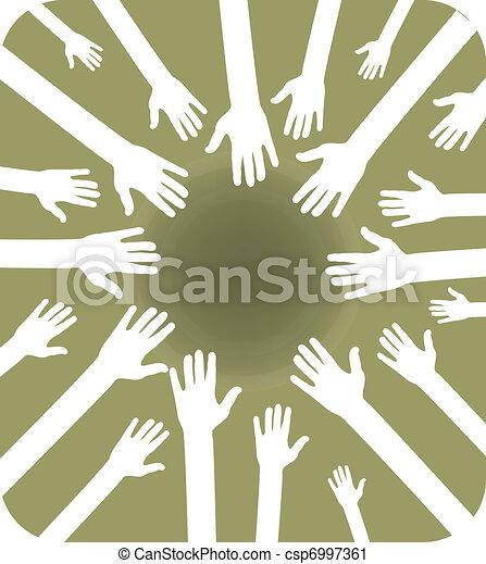 team of hands - csp6997361