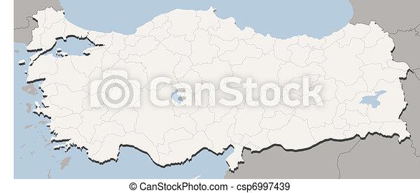 Map Of Turkey - csp6997439