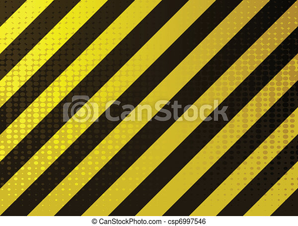 grungy hazard stripes - csp6997546