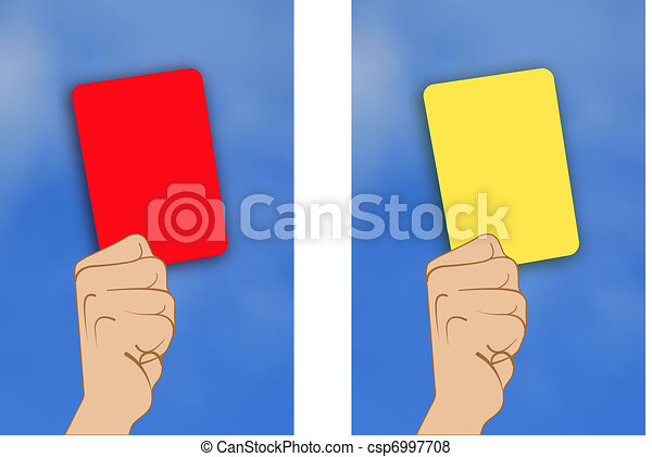 yellow card red card - csp6997708