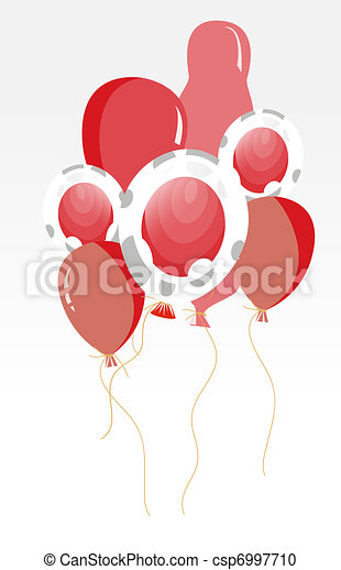 flag of japan in ballon shape - csp6997710