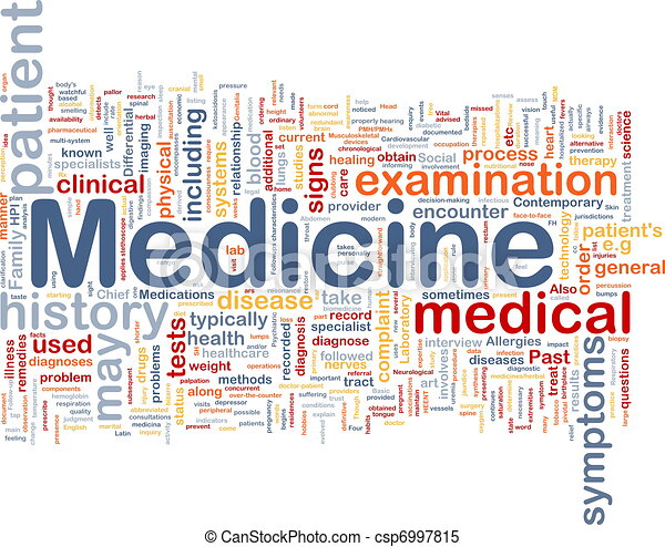 Medicine health background concept - csp6997815