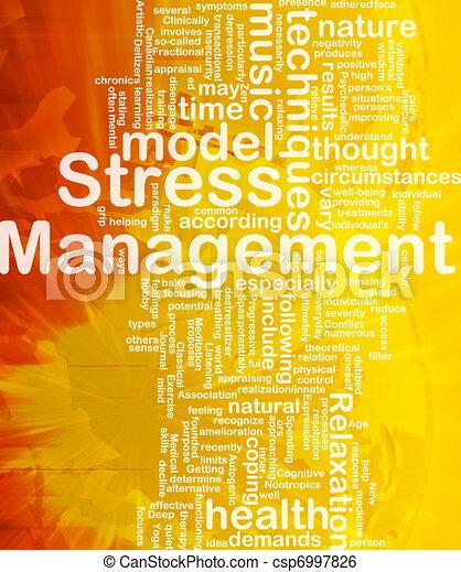 Stress management background concept - csp6997826