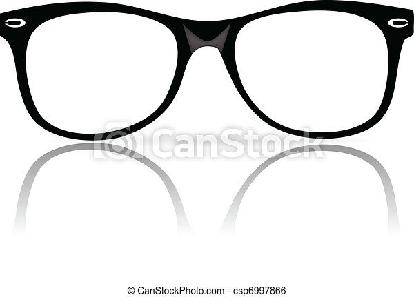 Black Frame Glasses Drawing : Clip Art Vector of black glasses frames - vector ...