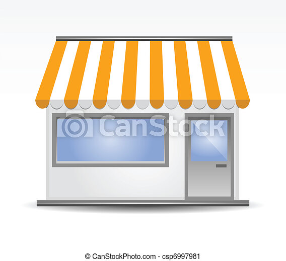 Storefront Awning in yellow - csp6997981