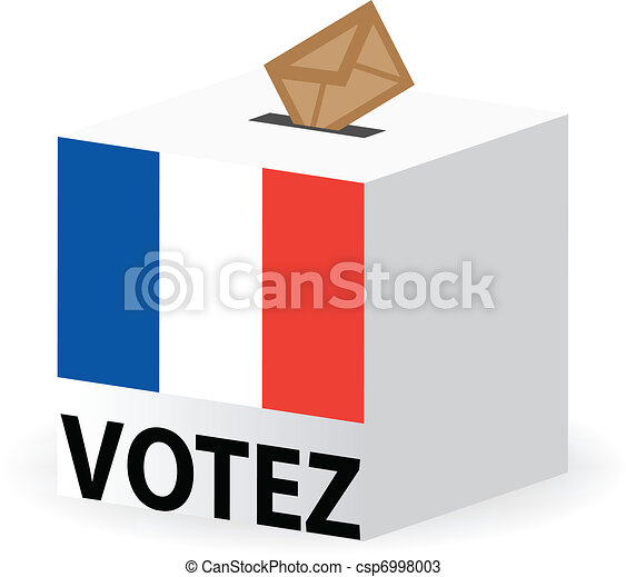 vote poll ballot box for france / french elections - csp6998003
