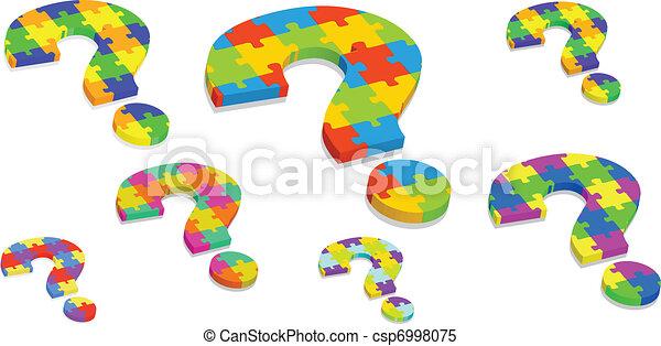 question mark puzzle - csp6998075