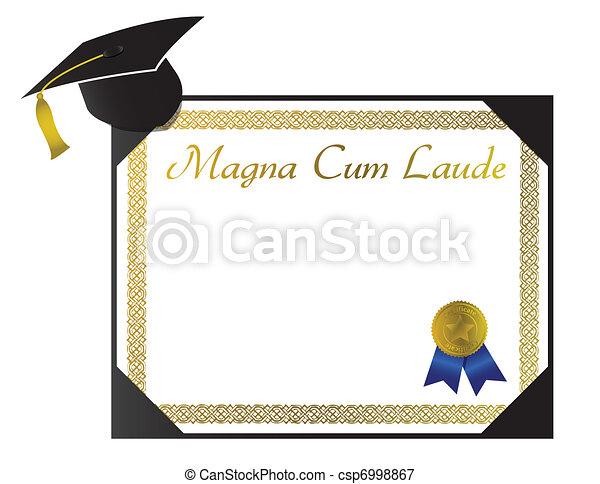 Magna Cum Laude College Diploma - csp6998867