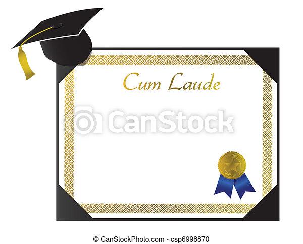Cum Laude College Diploma - csp6998870