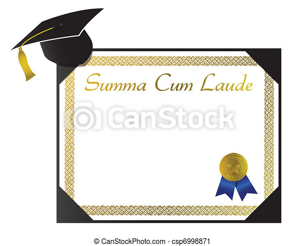 Summa Cum Laude College Diploma - csp6998871