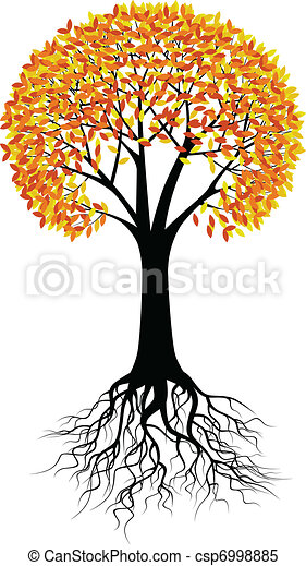 Autumn tree background - csp6998885