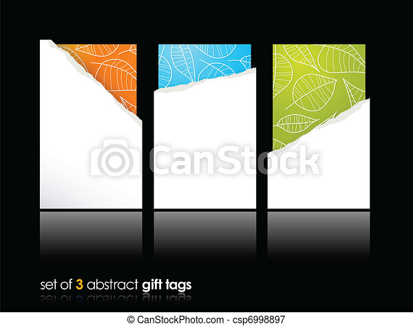 Set of teared gift cards. - csp6998897