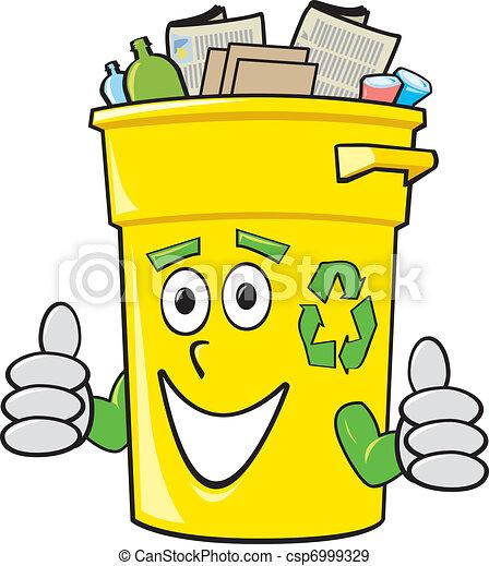 Cartoon Recycling Bin - csp6999329