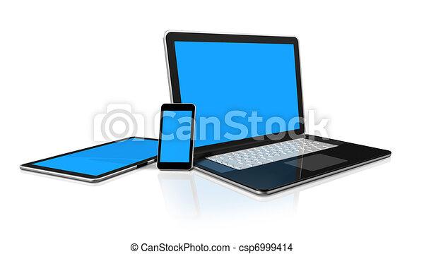 dessin de tablette t l phone mobile ordinateur portable pc csp6999414 recherchez des. Black Bedroom Furniture Sets. Home Design Ideas