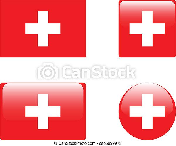 Switzerland flag & buttons - csp6999973