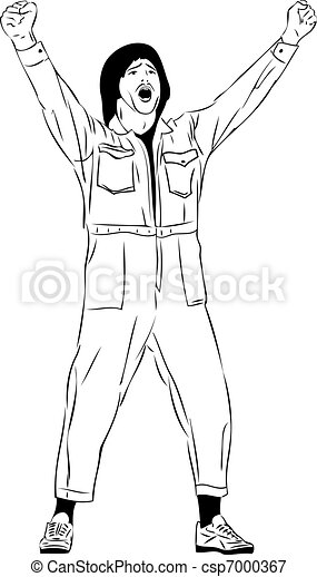 screaming man in a short suit - csp7000367