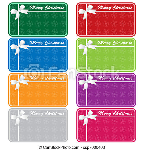 Xmas gift tags assorted colors - csp7000403