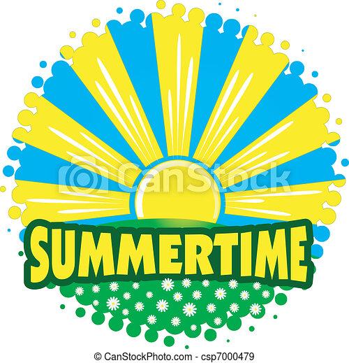 EPS Vectors of summertime sun csp7000479 - Search Clip Art ...