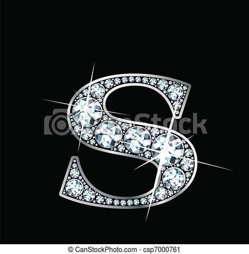 """Diamond """"S"""" Vector - csp7000761"""