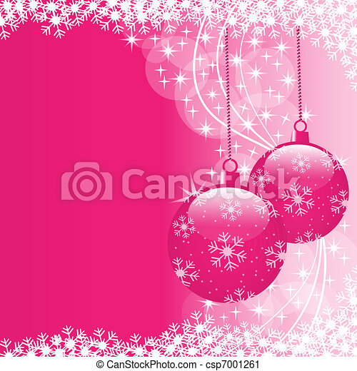 Xmas balls pink - csp7001261