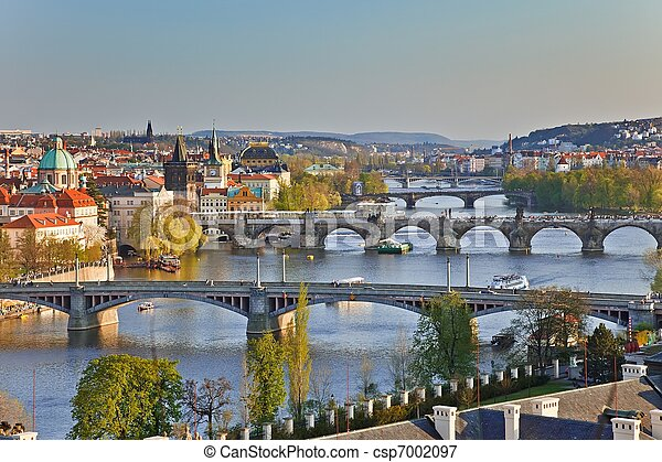 Prague Bridges - csp7002097
