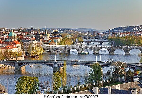 Prague Bridges - csp7002097