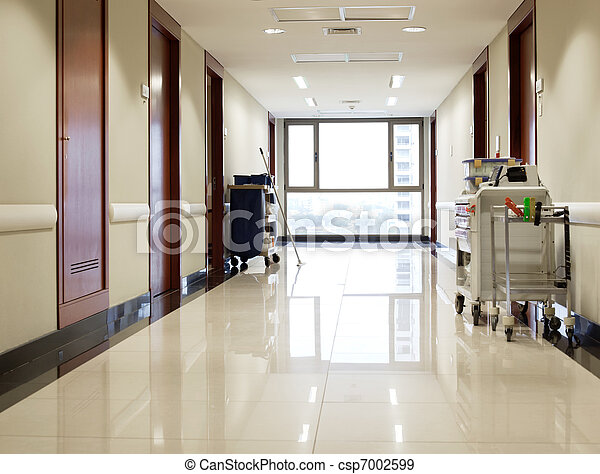 Empty hallway of hospital - csp7002599