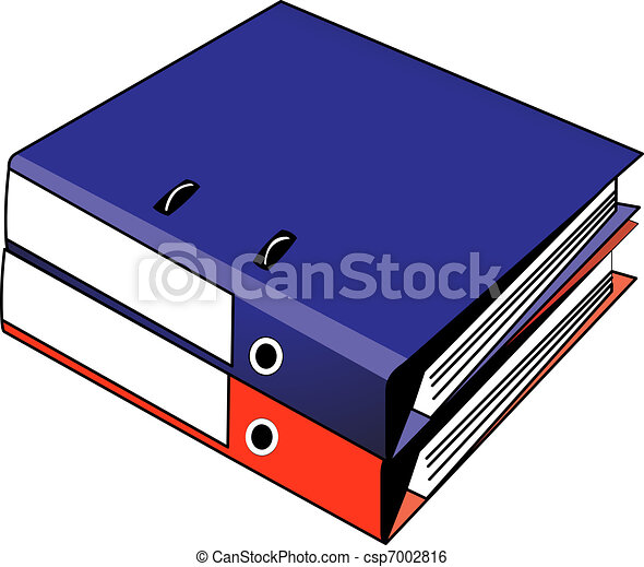 Two binders red and blue - csp7002816