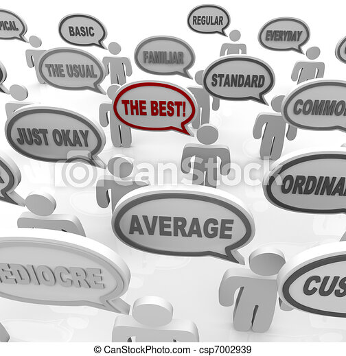 The Best - One Special Unique Person in Average Crowd - csp7002939