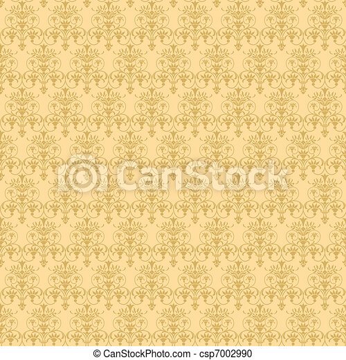 beige vegetable seamless pattern - csp7002990