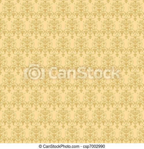 beige vegetable seamless pattern - csp7002990