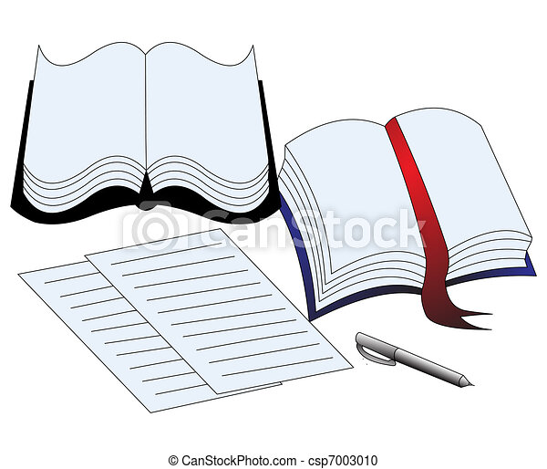 illustration of the book paper and handle - csp7003010