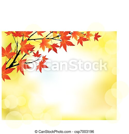 Autumn leaves background - csp7003196
