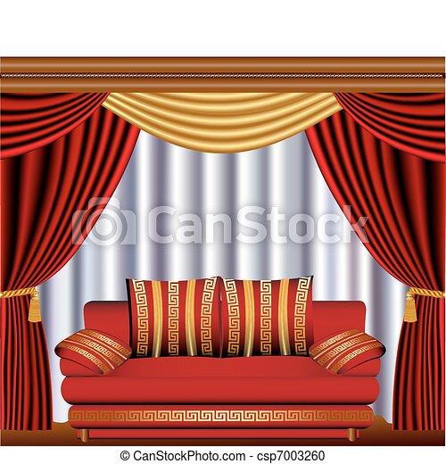Vektor clipart von sofa fenster feste jalousie zyste for Fenster 800x800