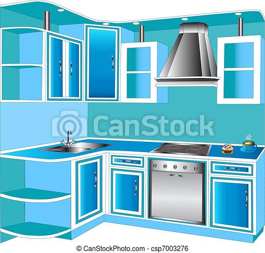 Vetor Mob Lia Interior Cozinhas Estoque De
