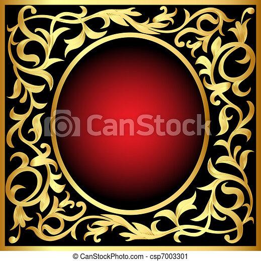 winding gold  pattern frame - csp7003301