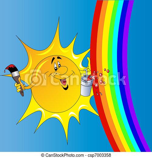 The Sun with tassel draws - csp7003358