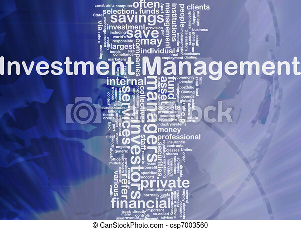 Investment management background concept - csp7003560