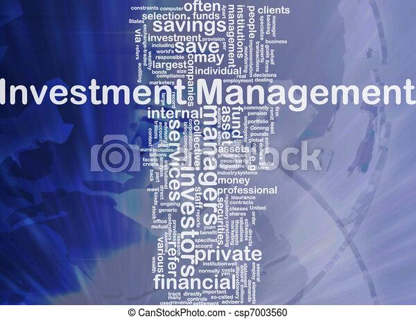 Investment management background concept - csp7003560