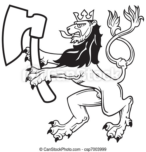 Lion with Axe - csp7003999