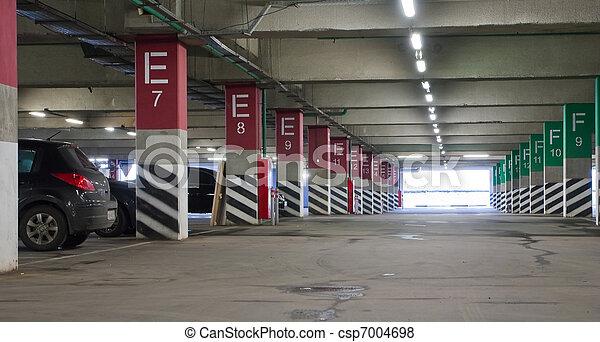 underground parking  - csp7004698