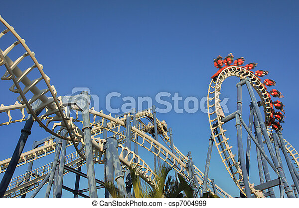 Roller coaster ride. - csp7004999