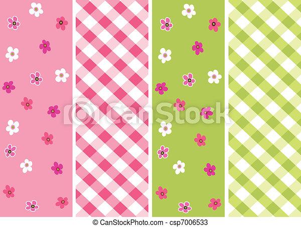 baby girl seamless patterns  - csp7006533