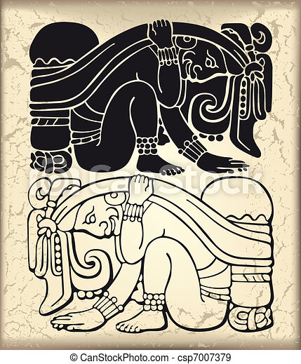 Ornament in style of the Maya - csp7007379