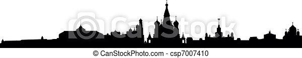 Skyline Moscow - csp7007410