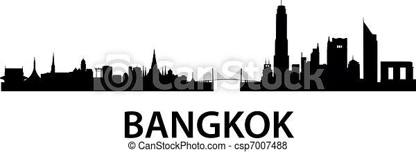 Bangkok Skyline - csp7007488