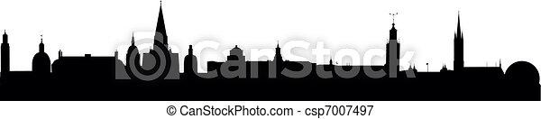 Skyline Stockholm - csp7007497